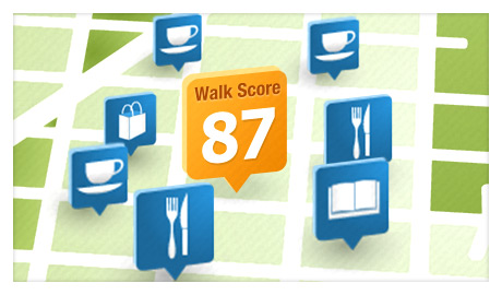 Walk Score Neighborhood Map