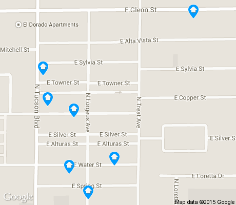 map of Country Glenn apartments for rent