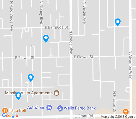 map of Dodge Flower apartments for rent