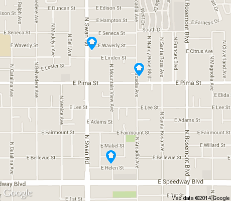map of St. Cyrils apartments for rent