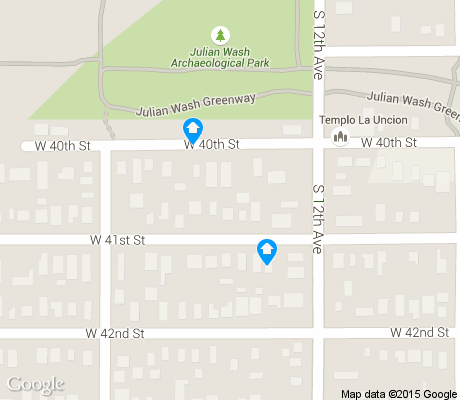 map of Sunset Villa apartments for rent