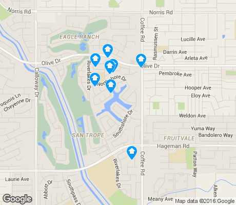 map of Riverlakes apartments for rent