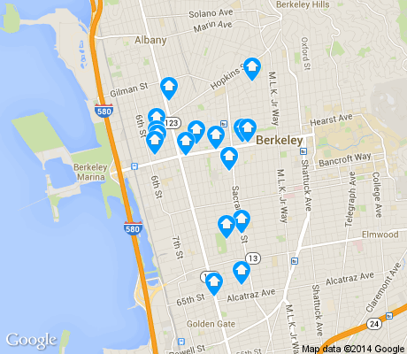 map of 94702 apartments for rent