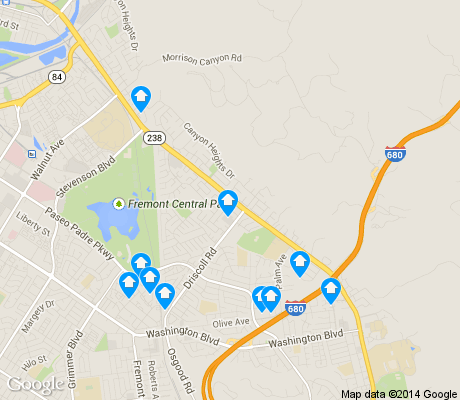 map of Kimber/Gomes apartments for rent