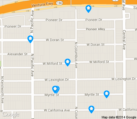 map of Vineyard apartments for rent