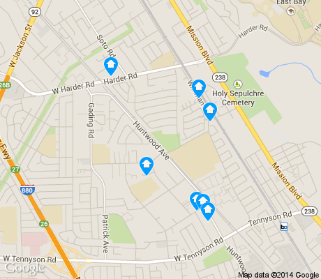 map of Whitman/Mocine apartments for rent