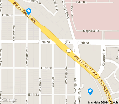 map of Alamitos Heights apartments for rent