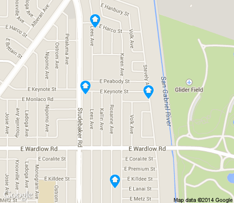 map of El Dorado Park apartments for rent