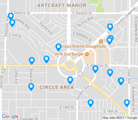 map of Traffic Circle apartments for rent