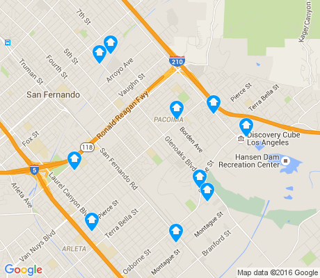 map of Pacoima apartments for rent