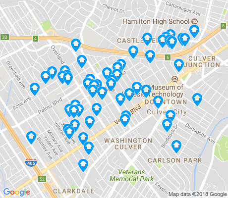 map of Palms apartments for rent