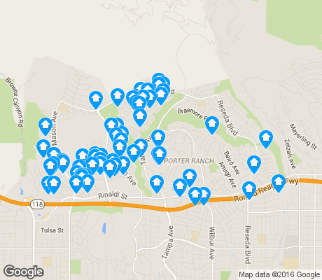map of Porter Ranch apartments for rent