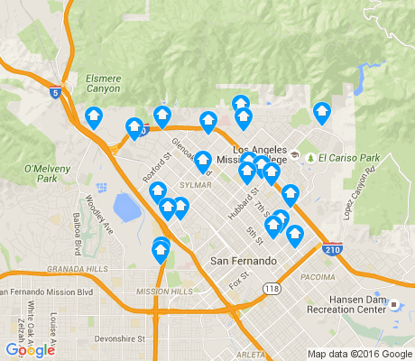 map of Sylmar apartments for rent