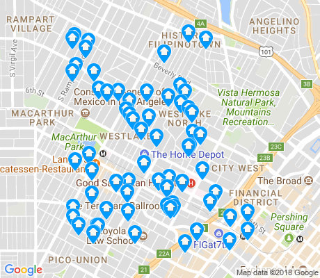 map of Westlake apartments for rent