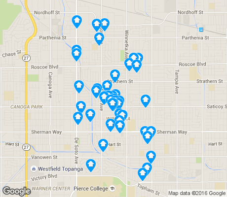map of Winnetka apartments for rent