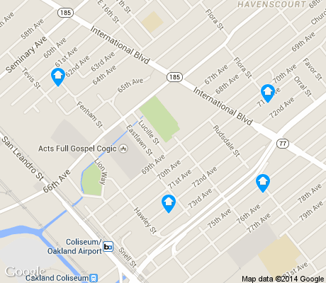 map of Coliseum apartments for rent