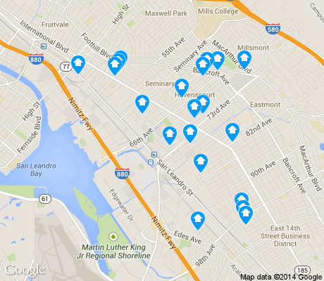 map of Coliseum Industrial apartments for rent