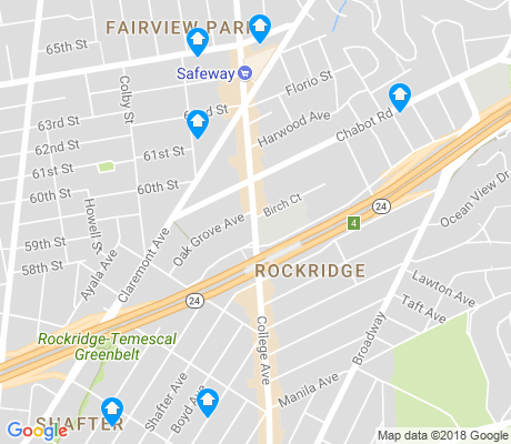 map of Rockridge apartments for rent