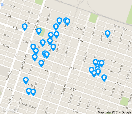 map of Boulevard Park apartments for rent