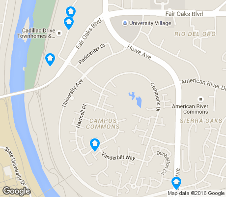 map of Campus Commons apartments for rent