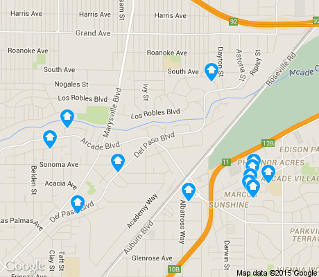 map of Hagginwood apartments for rent