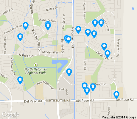 map of Natomas Park apartments for rent