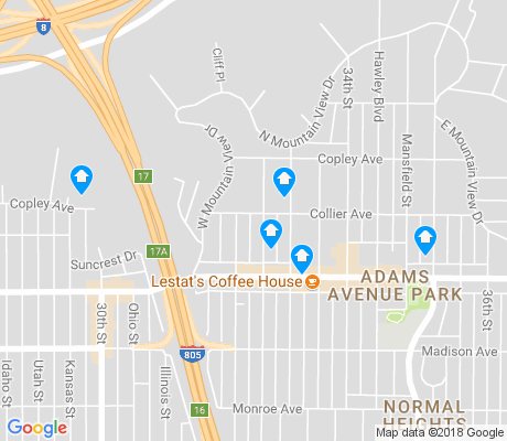 map of Adams North apartments for rent