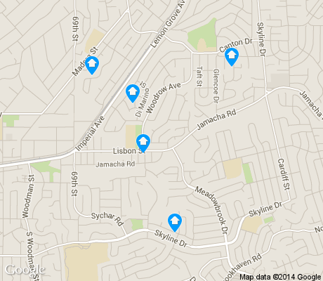 map of Jomacha/Lomita apartments for rent