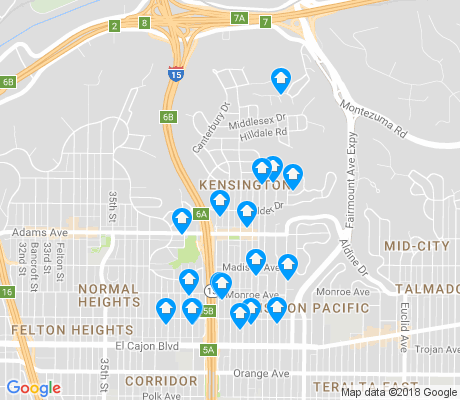 map of Kensington apartments for rent