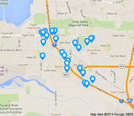map of Nestor apartments for rent