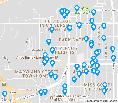 map of University Heights apartments for rent