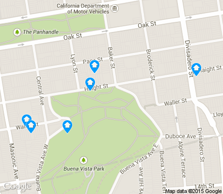 map of Buena Vista Park apartments for rent