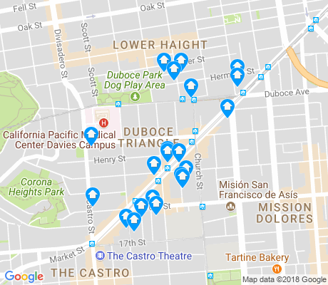 map of Duboce Triangle apartments for rent