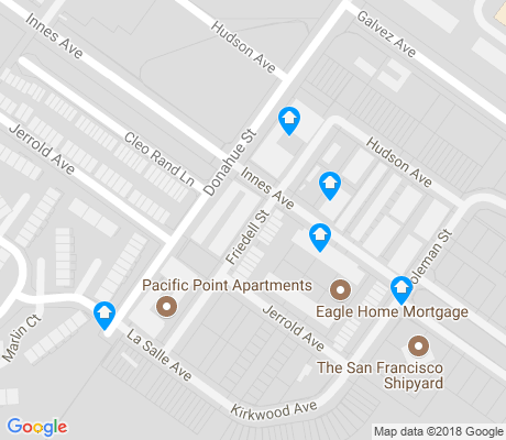 map of Hunters Point apartments for rent