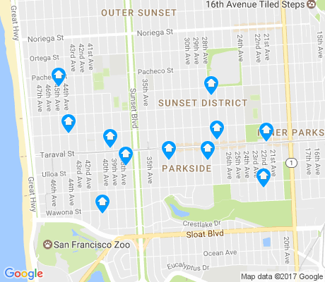 map of Parkside apartments for rent