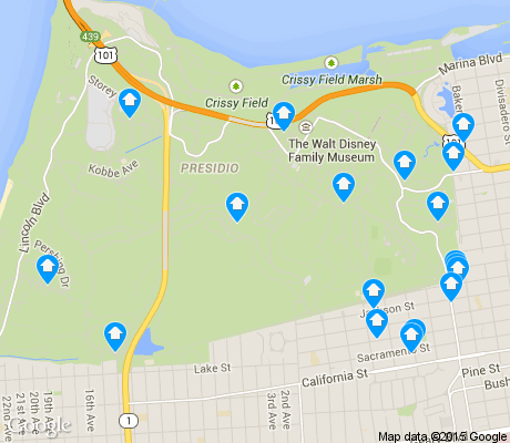 map of Presidio apartments for rent