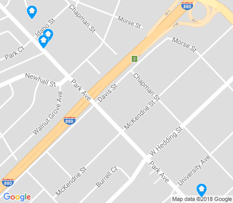 map of Rose Garden apartments for rent