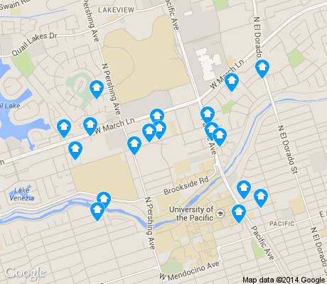 map of Weberstown apartments for rent
