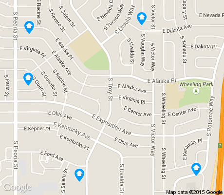 map of Aurora Hills apartments for rent