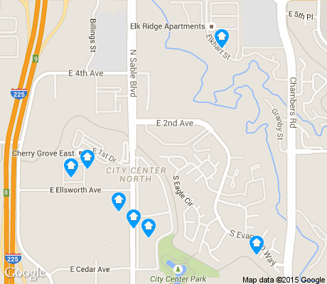 map of City Center North apartments for rent
