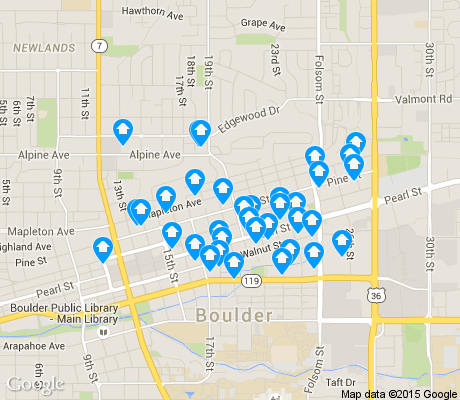map of Whittier apartments for rent