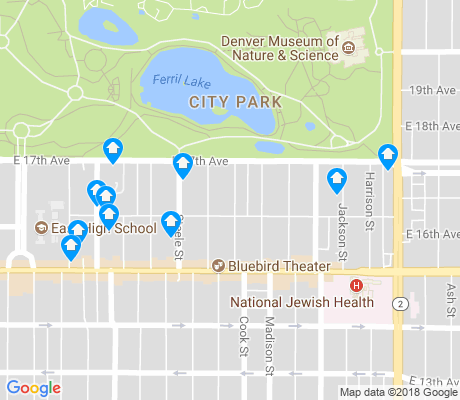 map of City Park apartments for rent