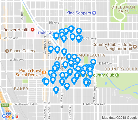 map of Speer apartments for rent