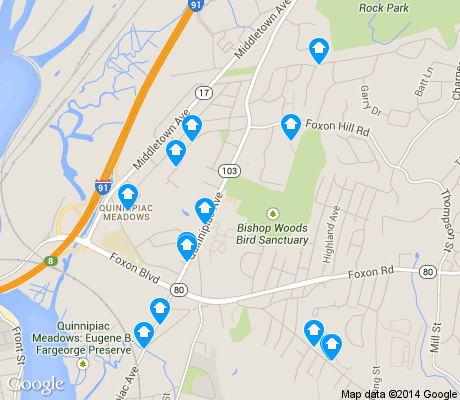 map of Quinnipiac apartments for rent