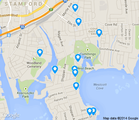 map of Shippan apartments for rent