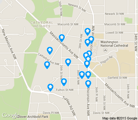 map of Cathedral Heights apartments for rent