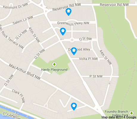 map of Foxhall apartments for rent