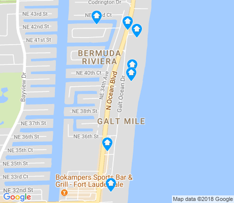 map of Galt Mile apartments for rent