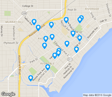map of Avondale apartments for rent