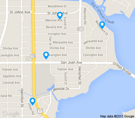 map of Fairfax apartments for rent